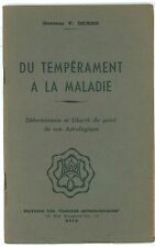 DEMBO V. DU TEMPERAMENT A LA MALADIE CAHIERS ASTROLOGIQUES 1942 ASTROLOGIA