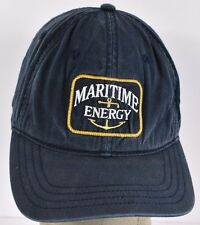 Navy Blue Maritime Energy Supplier Embroidered baseball hat cap adjustable strap