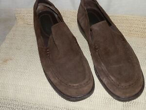 Rockport, Brown, Suede, Loafers, 8 1/2 Medium