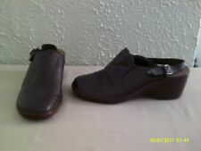 Easy Spirit - Brown Leather Clog / Mule with Heel Strap --  8 1/2