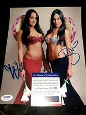 Nikki & Brie Bella Signed 8x10 Photo PSA/DNA Bella Twins Auto Total Divas WWE