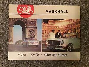 VAUXHALL Car RANGE Sales Brochure 1963 V1388 Victor VX4/90 Velox CRESTA