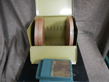Vintage Super 8 Movie Reel Metal Case Chest Carrying Storage Box & Splicer