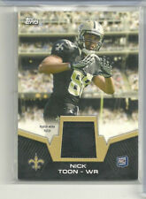 Nick Toon Rc Patch 2012 Topps Saints Badgers