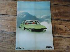 CATALOGUE FIAT X1/9 COUPE SPORT 1972