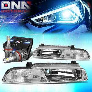 FOR 1995-2000 CHRYSLER CIRRUS REPLACEMENT HEADLIGHTS W/LED KIT+COOL FAN CHROME