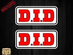 Aufkleber Decal Sticker Autocollant Adesivi Aufkleber 2 X D.I.D DID