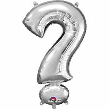 "Symbol ? Question Silver Foil Balloon 16"" 40cm Air Fill Age Birthday Anniversary"