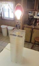 Vintage MOD George Bullio Adjustable Block Clear Lucite Table Lamp