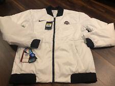 New Nike Mens Ohio State Buckeyes Velocity Bomber Jacket Coat Size Small White