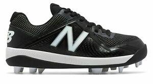 New Balance Youth Kids Molded Baseball Cleats J4040BK4 Black & White