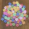 KE_ 100 Pcs Lovely Wooden Buttons DIY Sewing Scrapbooking Flower Dots Mixed 20