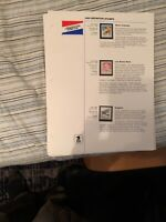 1990 US Postal Service Commemorative Stamp Club Collection album pages w/stamps
