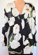 DOLCE & GABBANA FLORAL MULTI-COLOR CASHEMERE/SILK KNITTED CARDIGAN  SIZE 44