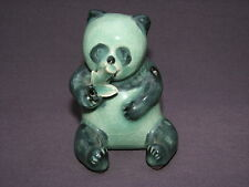 Korean Green Crackle Celadon Porcelain Panda Bear Suiteki Water Dropper Figurine