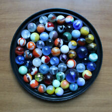 Mixed Lot of 64 Assorted Marbles Antique Vintage Glass