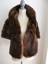 Vintage Dale of New York Genuine MINK Fur Stole Wrap Shawl Jacket Front Pockets