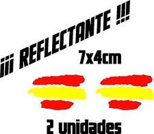 (1046) 2 x Vinilo pegatina bandera de España REFLECTANTE coches motos casco