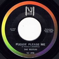 "THE BEATLES ""PLEASE PLEASE ME / ASK ME WHY"" VEE-JAY 498 BRACKETS LOGO RARE NM!"