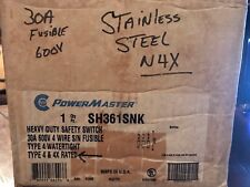 Power Master SH361SNK NEMA 4 4X Stainless Fusible Disconnect 30A 30 Amp 60 NEW