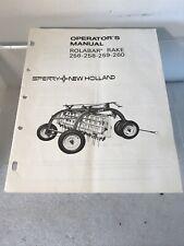 Sperry New Holland Operators Manual Rolabar Rake 256, 258, 259, 260 1975