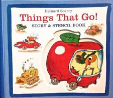 Things That Go Vehicles Story + Stencil Book Richard Scarry Draw Wacky Car Truck