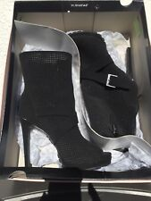Juicy Couture Black Suede Boots Sz 7