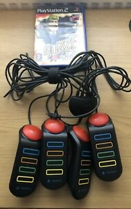 Buzz! The Big Quiz PlayStation 2, With 4 X Wired Buzz Controllers.
