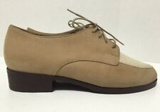 Munro Oxford Shoes Beige Tan Suede Lace Up Round Toe Womens M493783 Size 6WW