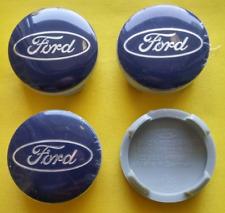 4 Tappi Coprimozzo BLU Per FORD 54mm FIESTA FOCUS MONDEO Ford C-Max Cerchi Lega