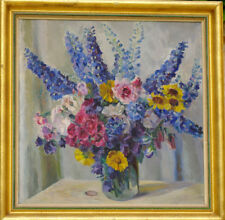 Grand bouquet de fleurs Huile sur panneau vers 1950