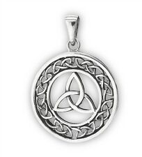 TRIQUETRA Necklace Celtic Trinity Knot Pendant Knot Work Sterling Silver 925