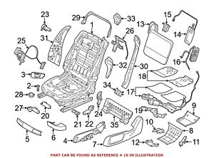 For BMW Genuine Seat Track Cover Front Right 52107261790