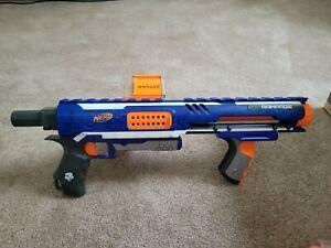 Nerf Blue Orange Rampage Toy With Drum Attachment