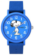 Timex TW2T65800, Peanuts-Snoopy Weekender Watch, Blue Nylon Strap, Joe Cool