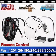 Remote Control Wiring Harness Kit 40A 14VDC 120/240/300W LED Work Light Flash