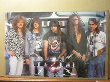 Vintage TESLA rock n roll heavy metal 1989 original Poster 1019