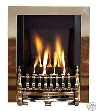 Ekofire 3030 Living Flame Gas Fire Brass 'Blenhiem' Full Depth Gas Fire