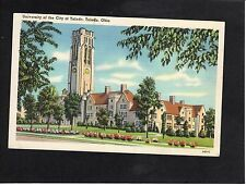 View of University of the City of Toledo, Ohio, USA, Stamp/Postmark-1938