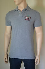 NEU Abercrombie & Fitch Round Mountain Polo Shirt Football NY Grau XL UVP £ 72