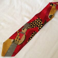 CLAUDE MONTANA PARIS Cravatta Tie Original 100% Seta Silk Made In Italy NEW