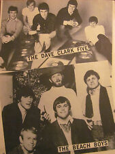The Beach Boys, The Dave Clark Five, Full Page Vintage Pinup