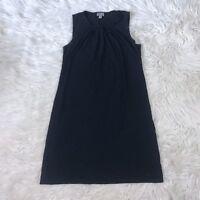 J. Jill Women's Size Small Petite Wearever Black Sleeveless Shift Dress Pleated