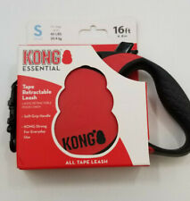KONG Essential Tape Retractable Dog Leash Small 16ft for Dogs up to 45lbs