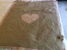 David Fussenegger Reversible Baby Blanket Pink Beige Heart