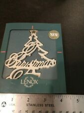 Lenox O Christmas Tree ornament