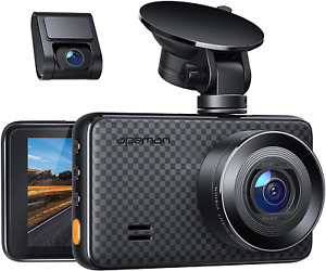 APEMAN 1440P&1080P Dual Dash Cam, 1520P max, Support 128GB, Front and Rear for 3