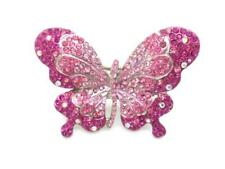 New Austrian Crystal Butterfly Women Ring Stretch 3D Statement new
