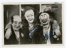 LES CLOWNS FRATELLINI 1946 VINTAGE CP ORIGINAL SIGNEE DEDICACEE CIRQUE CLOWN