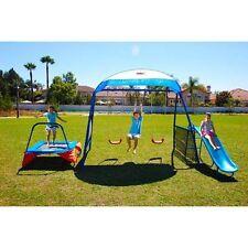 Outdoor Playset Playground Swingset Trampoline Slide Fun Kids Toy Children Gym